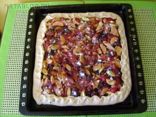 Пирог с начинкой, приготовление