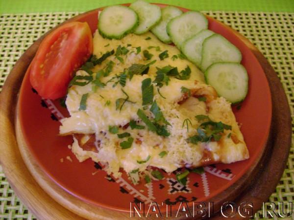 Омлет с зеленью и сыром
