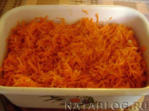 Морковь в лотке