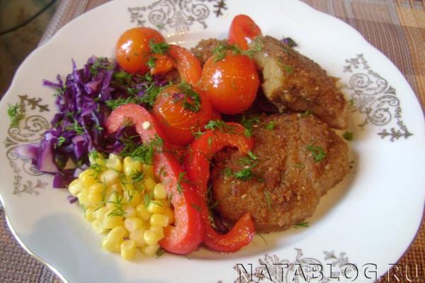 Филе в тарелке