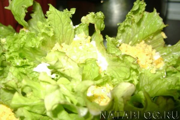 Кулечки с салатом
