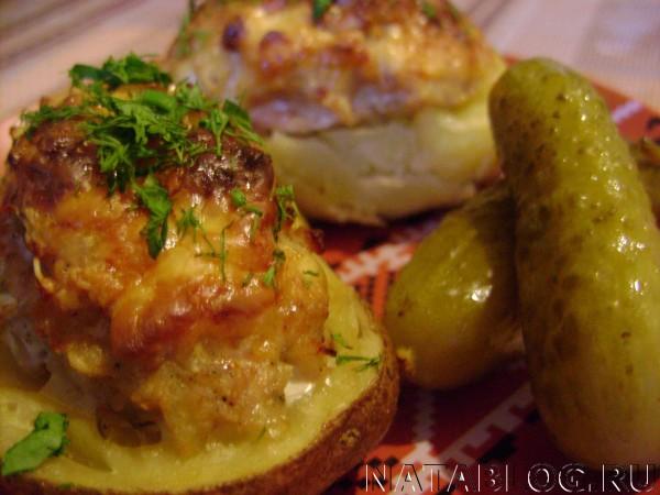 Картофель с огурцом