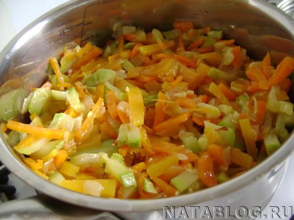 Овощи на рисе