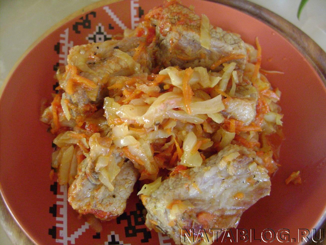 Тушеная капуста рецепт пошагово в сковороде