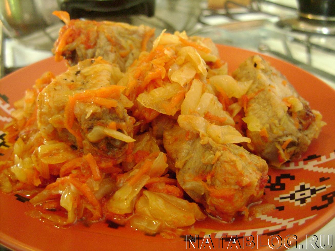 """Рецепт: Овощное рагу """"Сочное"""" со свининой на m"""